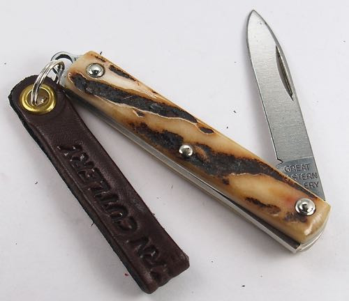 Great Eastern Northfield Spear Keychain Knife Sambar Stag 052121 PPP 7