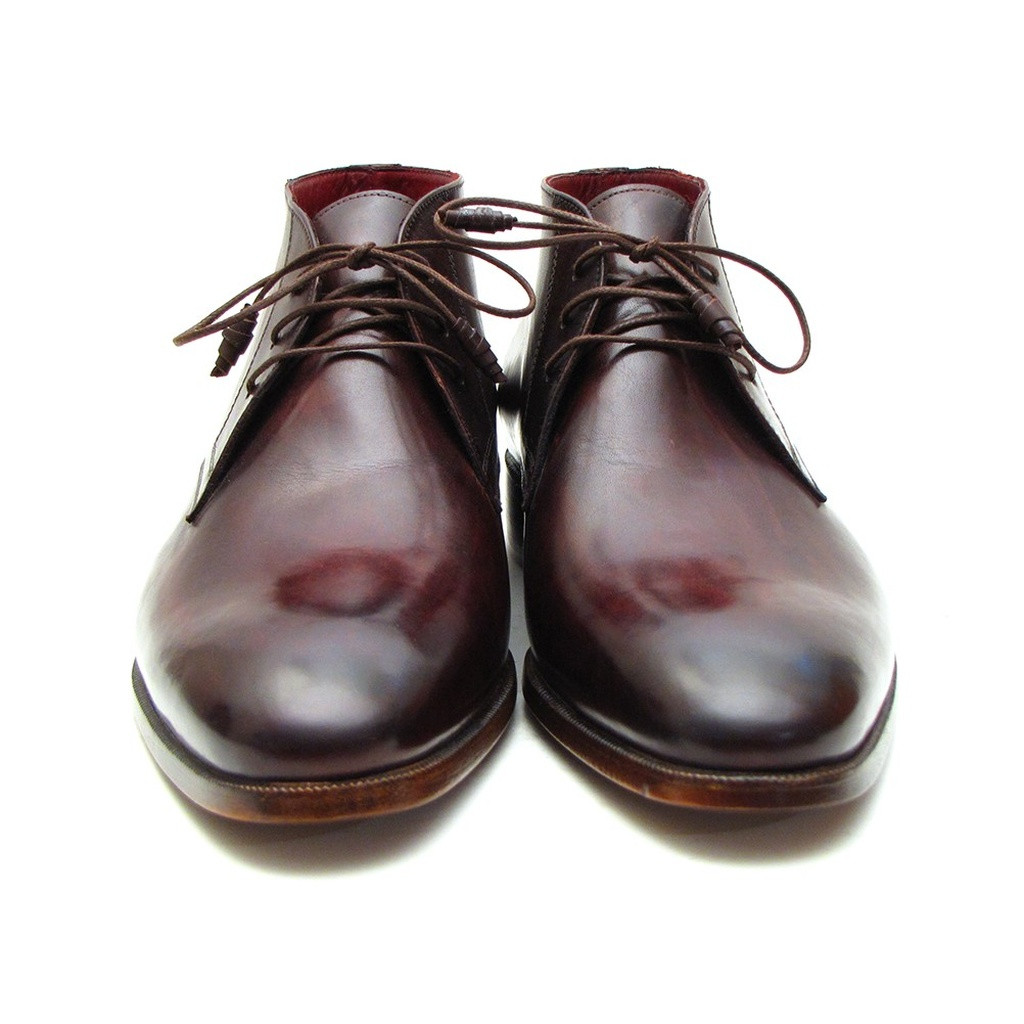 d3909cc3f4470 Paul Parkman Men's Chukka Boots Brown & Bordeaux (ID#CK43E8)