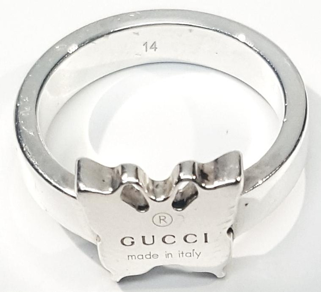 ac7e7a16ea1 Gucci Sterling Silver Butterfly Ring - thethingsyouwear