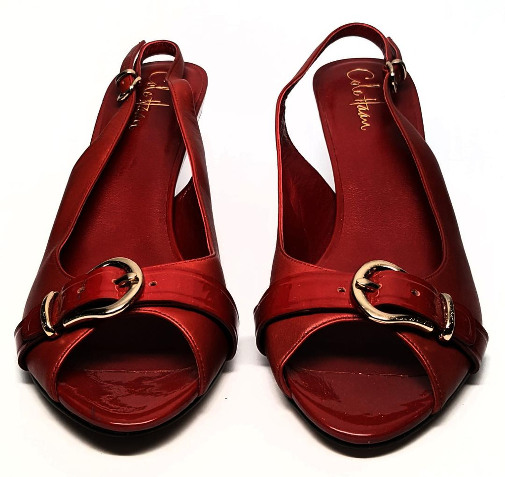 Cole Haan Nike Air Cherry Red Leather
