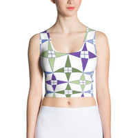 "Ann Gertrude ""Windmill"" Sleeveless Crop Top - Multicolor"