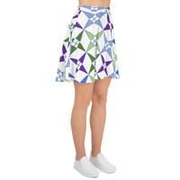 """Ann Gertrude """"Windmill"""" Skater Skirt - Multicolor"""