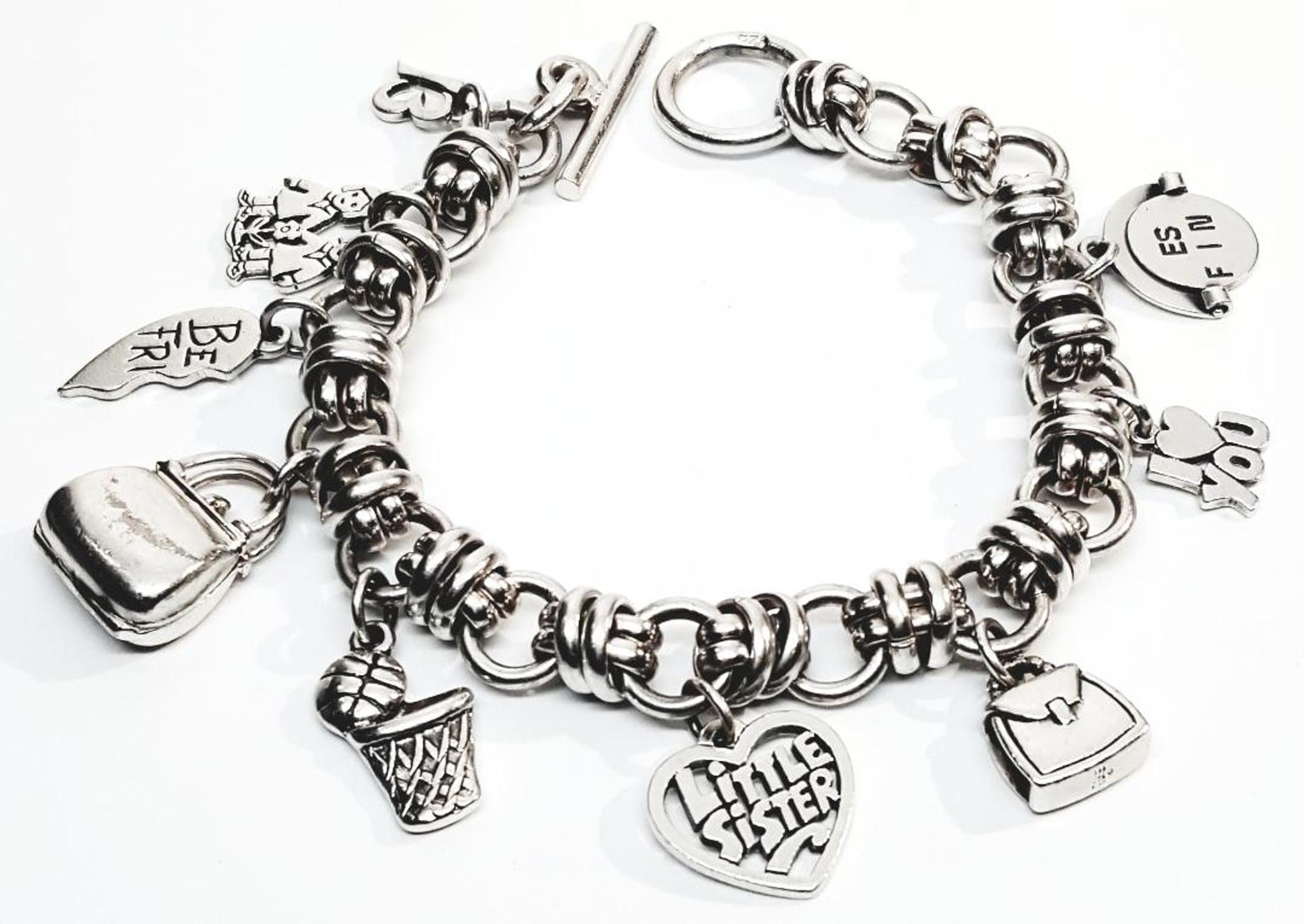 James Avery Sterling Silver Heavy Charm Bracelet - Vintage ...