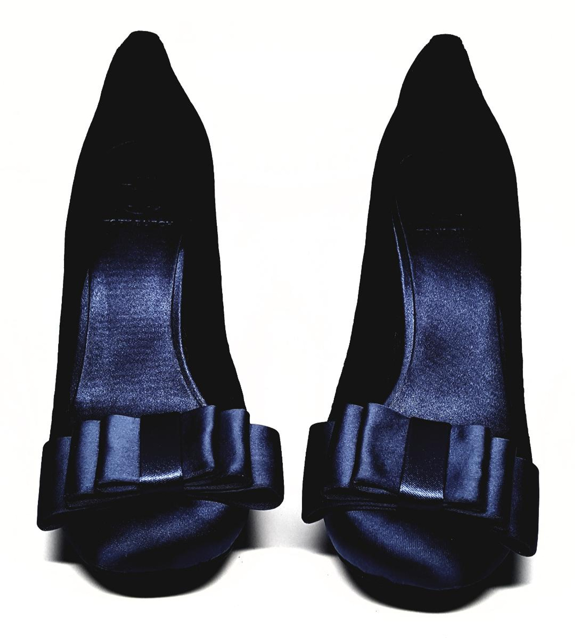 7bd72535410acd Royal Blue Velvet Satin Bow Heels by Tory Burch - New US Size 8M ...