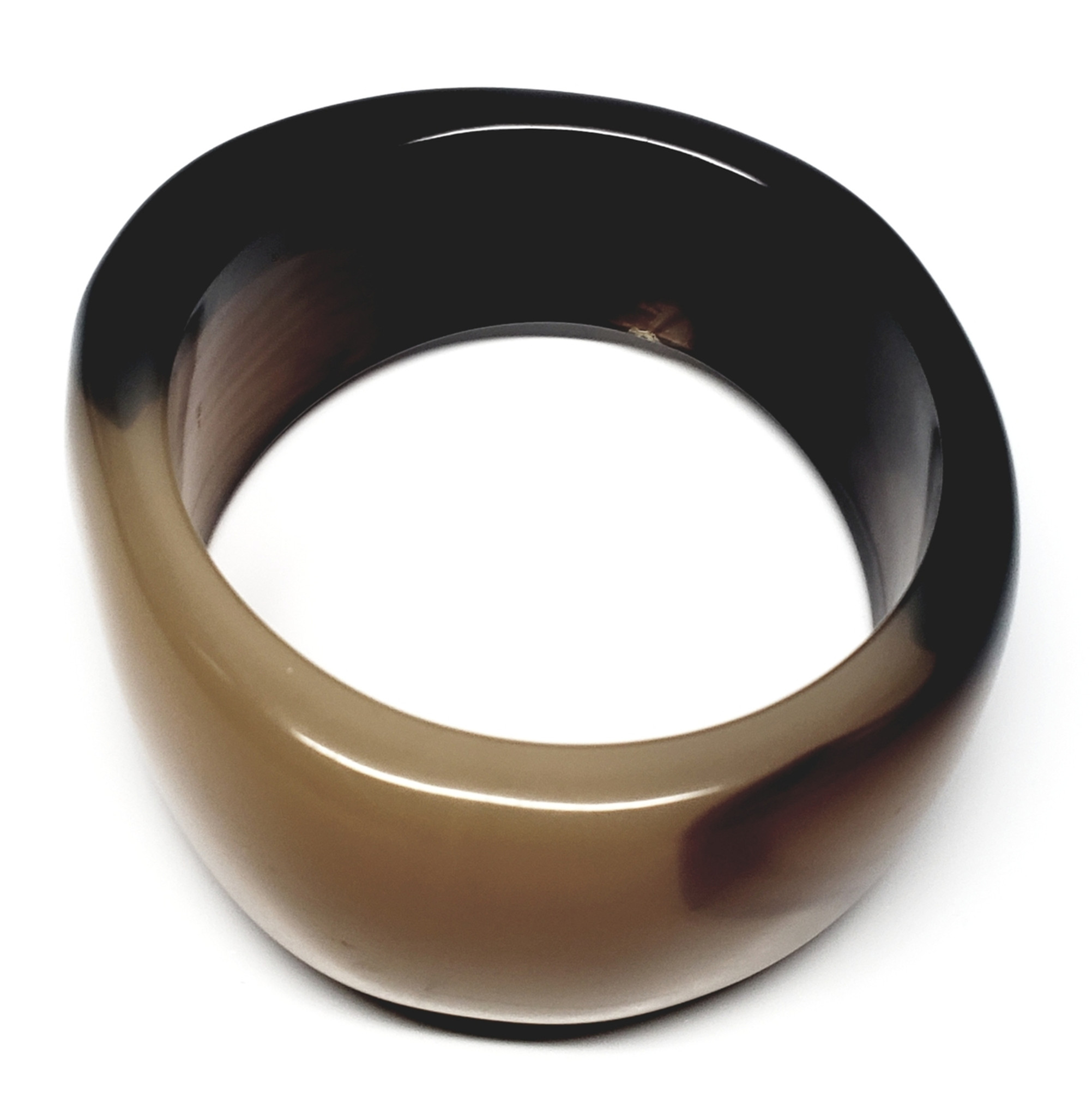 4f8313b426aeb Bakelite Big Chocolate Caramel Clunker Bangle Bracelet - Vintage