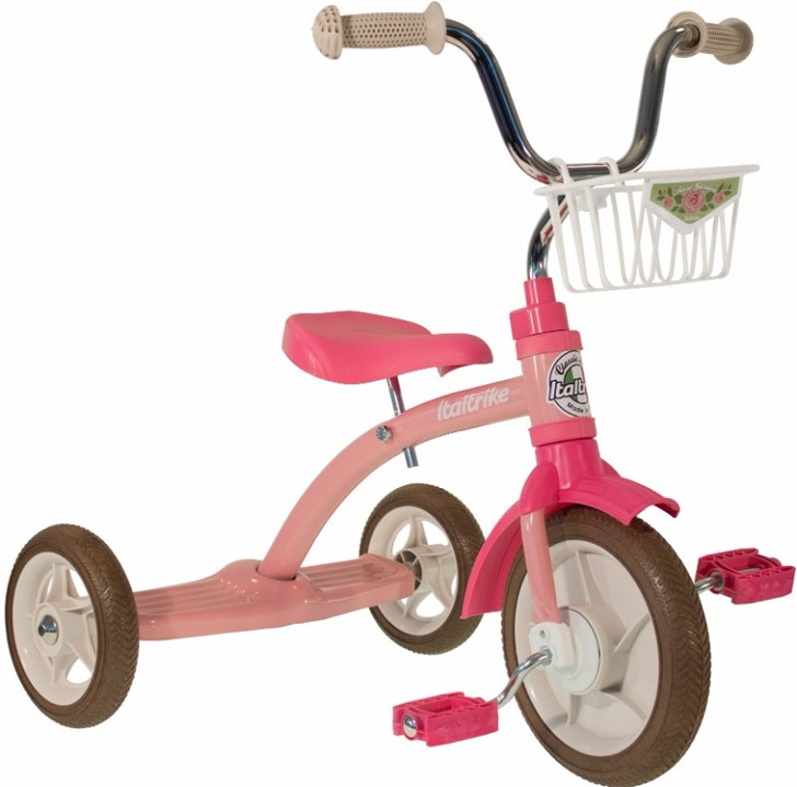"Italtrike Tricycle 10"" - Super Lucy Rose Garden Pink"