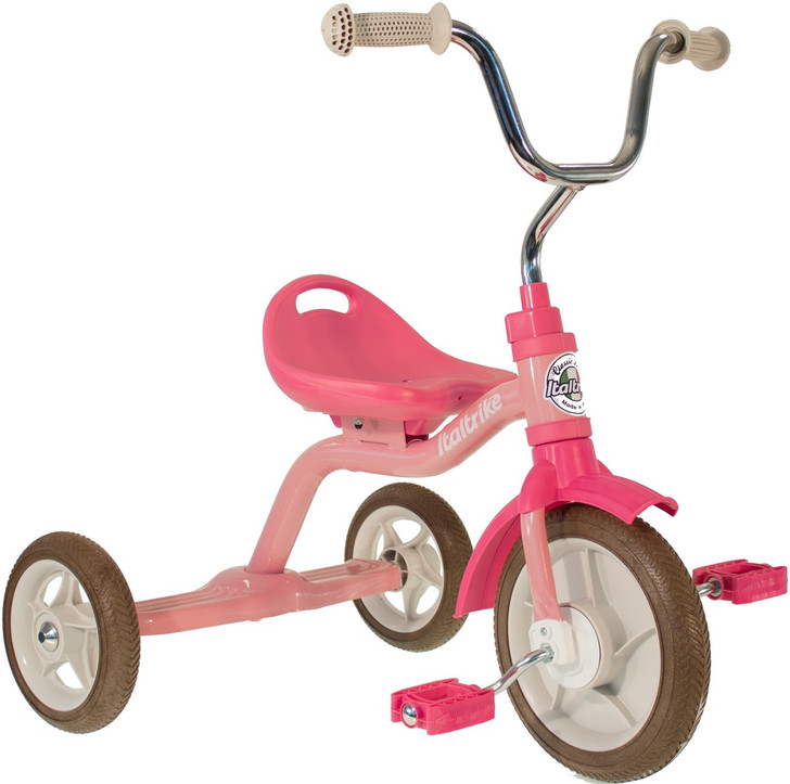 "Italtrike Tricycle 10"" - Super Touring Rose Garden Pink"