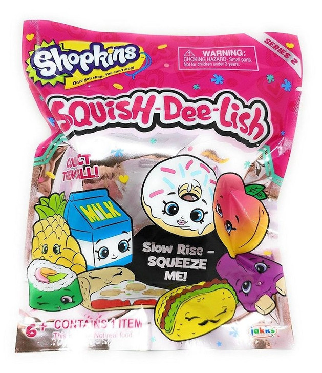 Shopkins Squish-Dee-Lish Slow Rise Squishies - Single Pack - Series 2