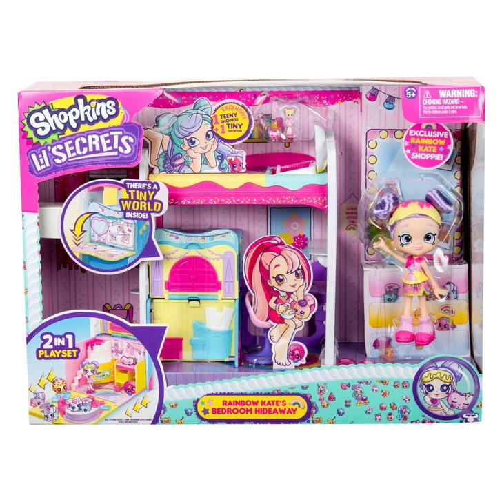 Shopkins Lil' Secrets Rainbow Kate's Bedroom Hideaway Playset