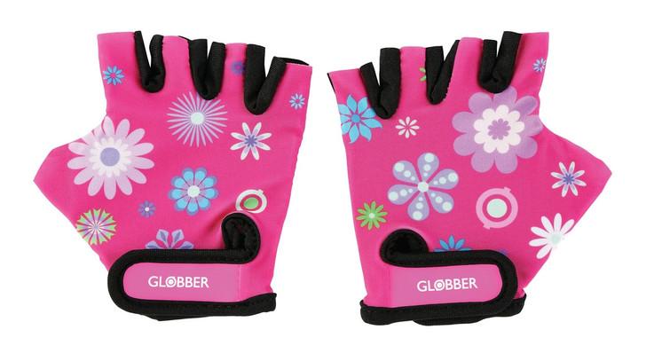 Globber Toddler Gloves - Pink Flowers