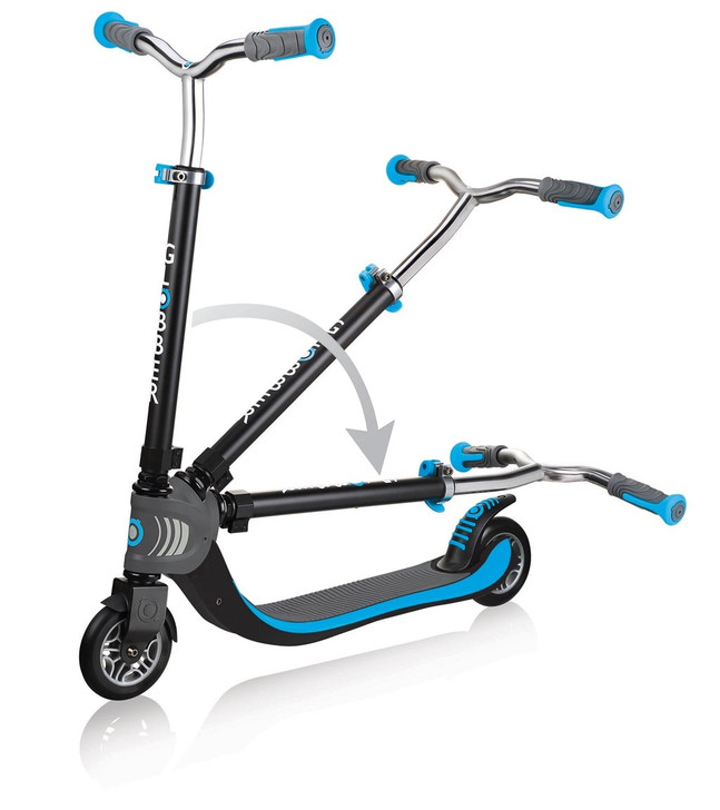 Globber Flow 125 Foldable 2 Wheel Scooter - Sky Blue