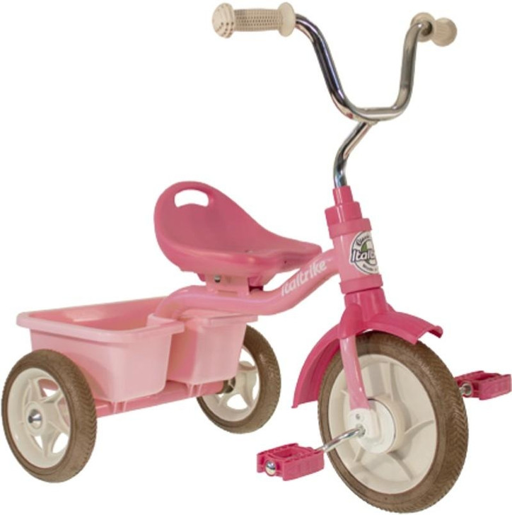 "Italtrike Tricycle 10"" - Transporter Rose Garden Pink"