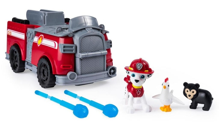 Paw Patrol Ride N Rescue Vehicle Transforming 2-in-1 Playset - Marshall