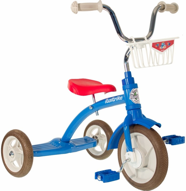 """Italtrike Tricycle 10"""" - Super Lucy Colorama Blue"""