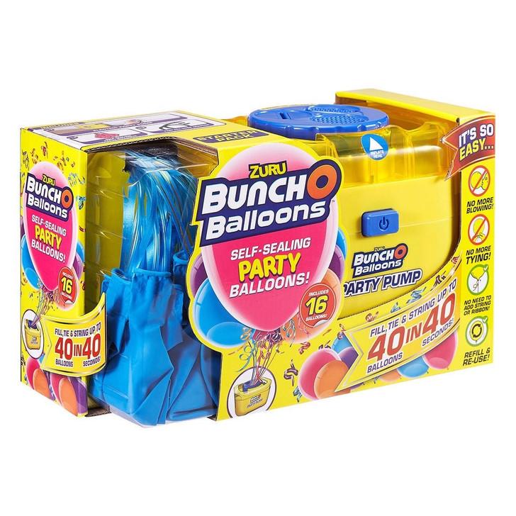 Zuru Bunch O Balloons Self-Sealing Party Balloons - Pump & 16 BLUE Balloons