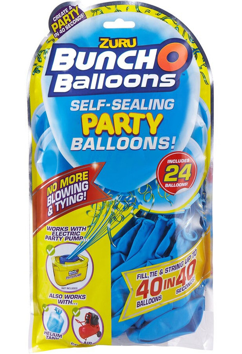 Zuru Bunch O Balloons Self-Sealing Party Balloons - 24 Pack Refill BLUE