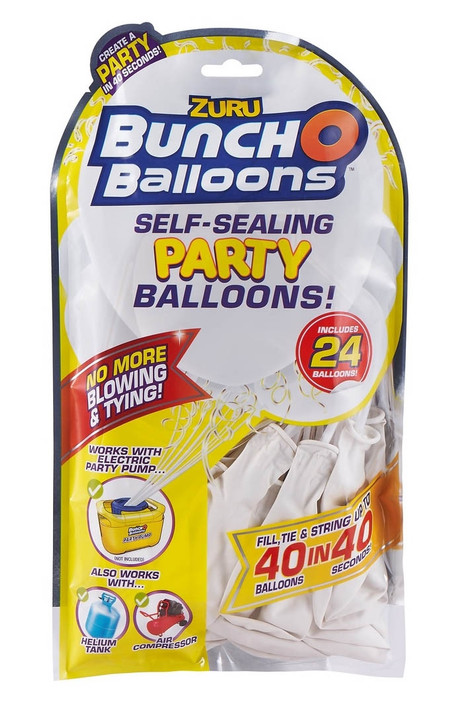 Zuru Bunch O Balloons Self-Sealing Party Balloons - 24 Pack Refill WHITE