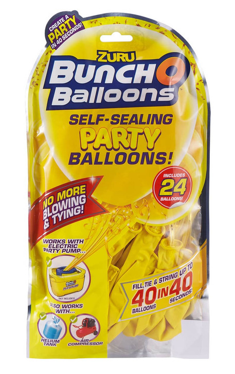 Zuru Bunch O Balloons Self-Sealing Party Balloons - 24 Pack Refill YELLOW
