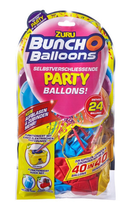 Zuru Bunch O Balloons Self-Sealing Party Balloons - 24 Pack Refill MIXED ASSORTED COLOURS