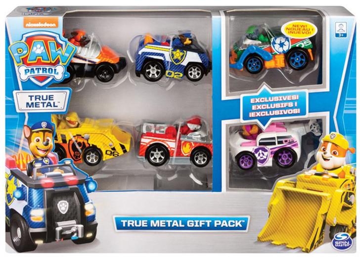 Paw Patrol Die Cast True Metal Multipack 6 Vehicle Classic Gift Pack