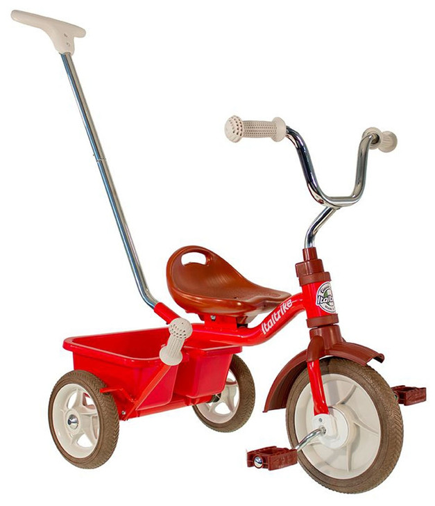 "Italtrike Tricycle 10"" - Passenger Champion Red"