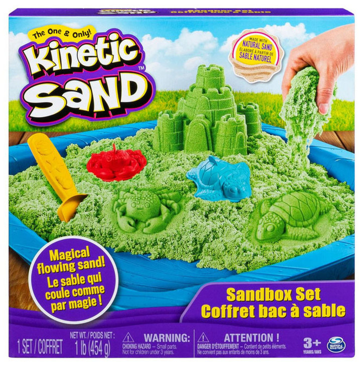 Kinetic Sand - Sandbox Playset - Green Sand