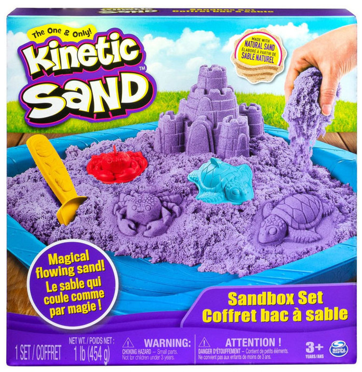 Kinetic Sand - Sandbox Playset - Purple Sand