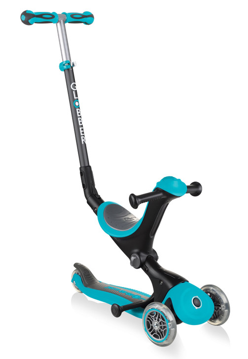 Globber Go Up Deluxe Convertible Scooter - Teal