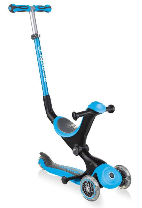 Globber Go Up Deluxe Convertible Scooter - Sky Blue