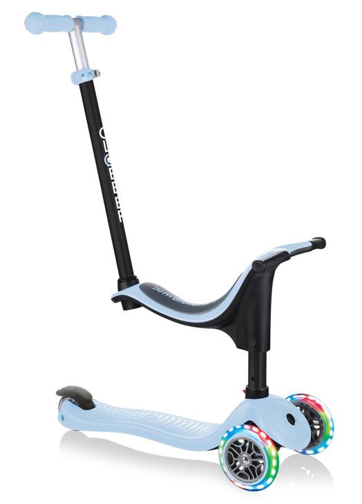 Globber GO UP Sporty Lights Scooter - Pastel Blue (Baby Blue)