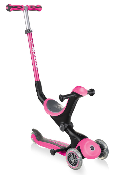 Globber Go Up Deluxe Convertible Scooter - Pink