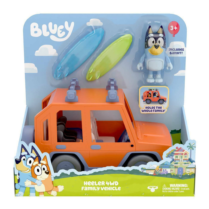 Bluey Heeler 4WD Family Vehicle Cruiser Playset