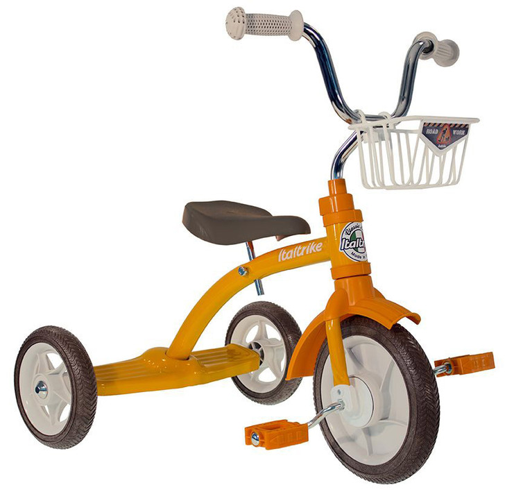 """Italtrike Tricycle 10"""" - Super Lucy Road Work Yellow"""