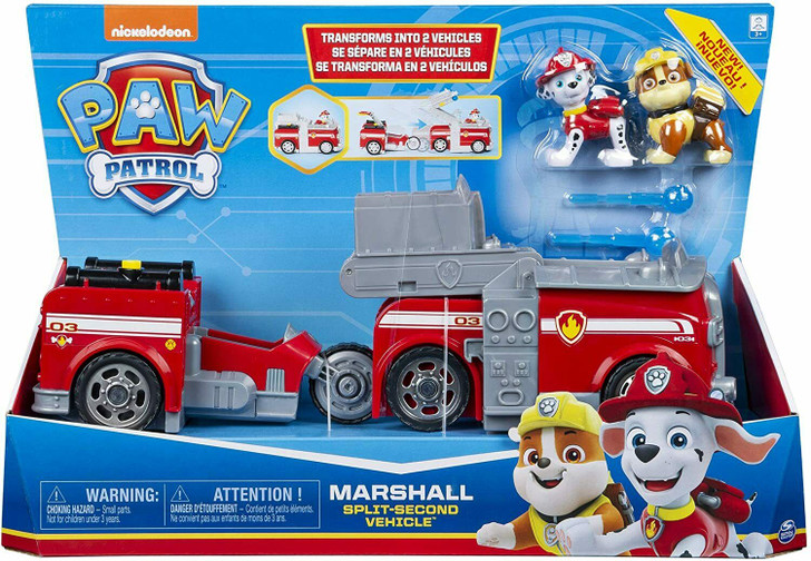 Paw Patrol Split Second Transforming 2-in-1 Vehicle - Marshall