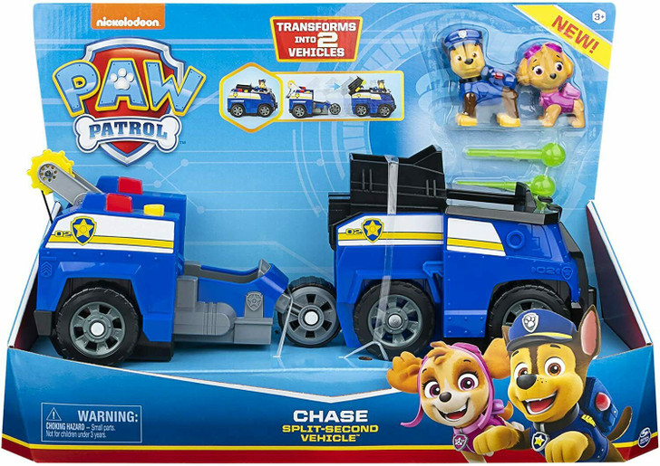 Paw Patrol Split Second Transforming 2-in-1 Vehicle - Chase
