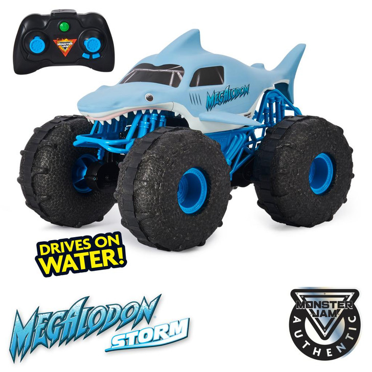 Monster Jam Megalodon Storm All-Terrain Remote Control Monster Truck 1:15 Scale