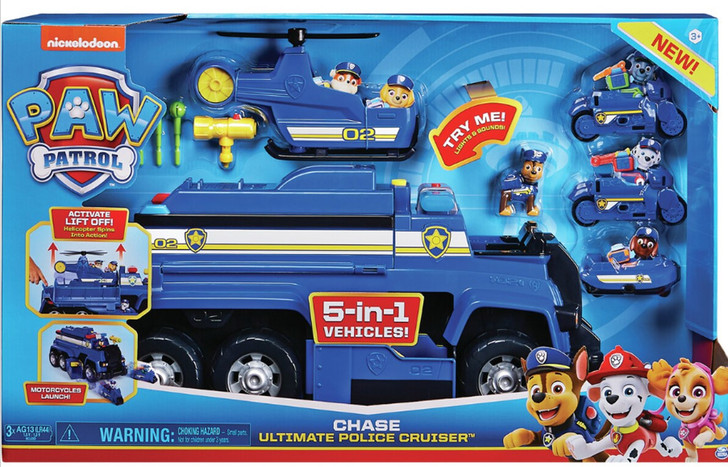Paw Patrol Chase Ultimate Police Cruiser 5-in-1 Vehicles