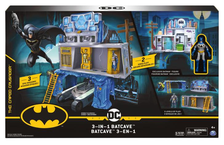"Batman Mission 3-in-1 Batcave Playset - Exclusive 4"" Batman Figure and Battle Armour"