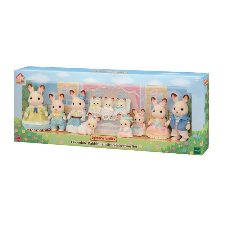 Sylvanian Families - Chocolate Rabbit Family Celebration Set SF5506