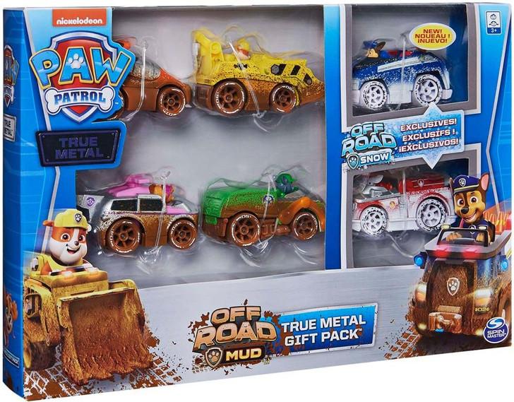 Paw Patrol Die Cast True Metal 6 Vehicle Off Road Mud/Snow Classic Gift Pack