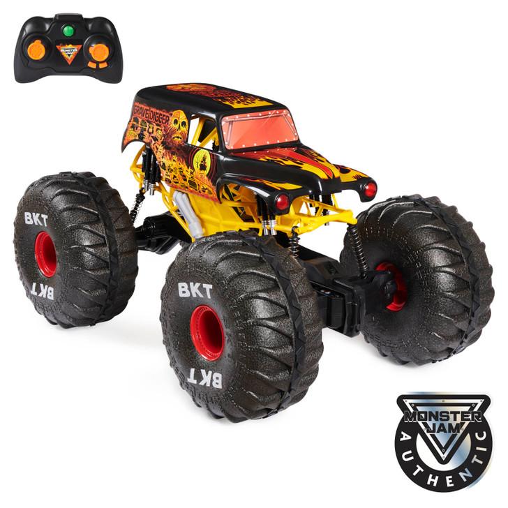 Monster Jam Mega Grave Digger RC Monster Truck Fire & Ice 1:6 Scale