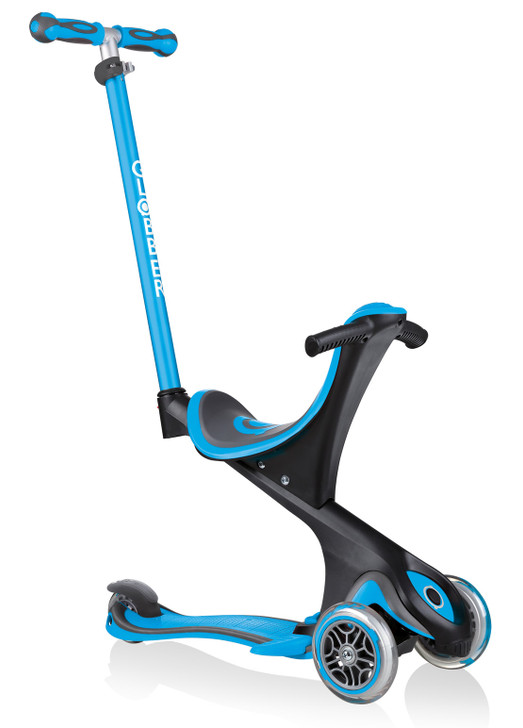 Globber Go Up Comfort Convertible Scooter - Sky Blue