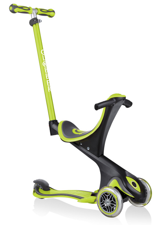 Globber Go Up Comfort Convertible Scooter - Lime Green