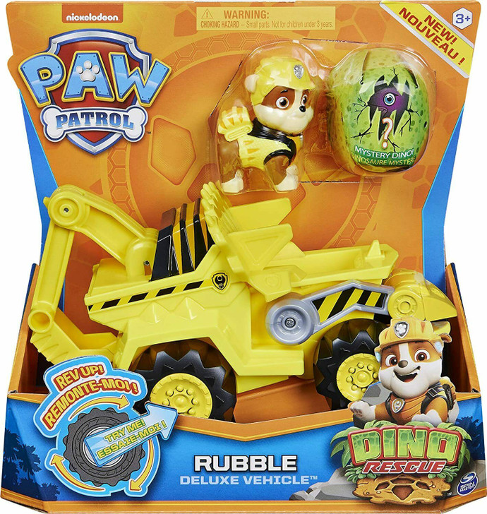 Paw Patrol Dino Rescue Deluxe Vehicle - Rubble