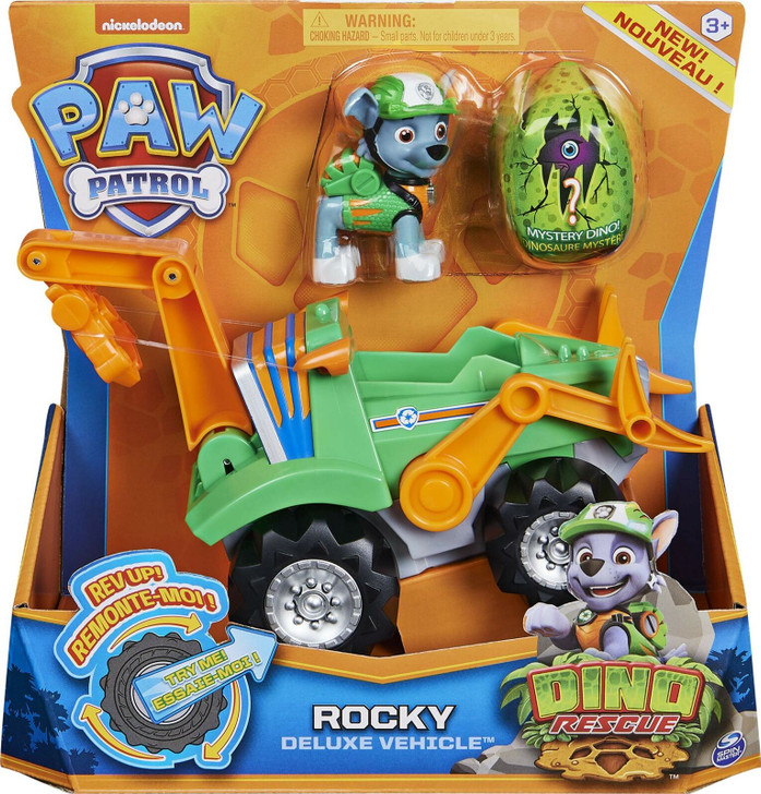 Paw Patrol Dino Rescue Deluxe Vehicle - Rocky