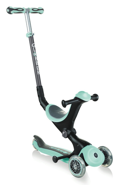 Globber Go Up Deluxe Convertible Scooter - Mint