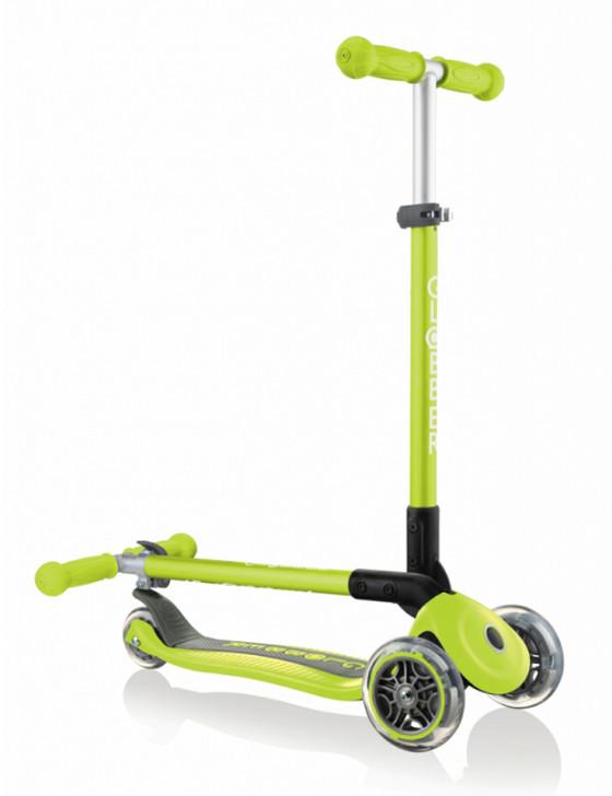 Globber Primo Foldable 3 Wheel Fold Up Scooter - Lime Green - V2