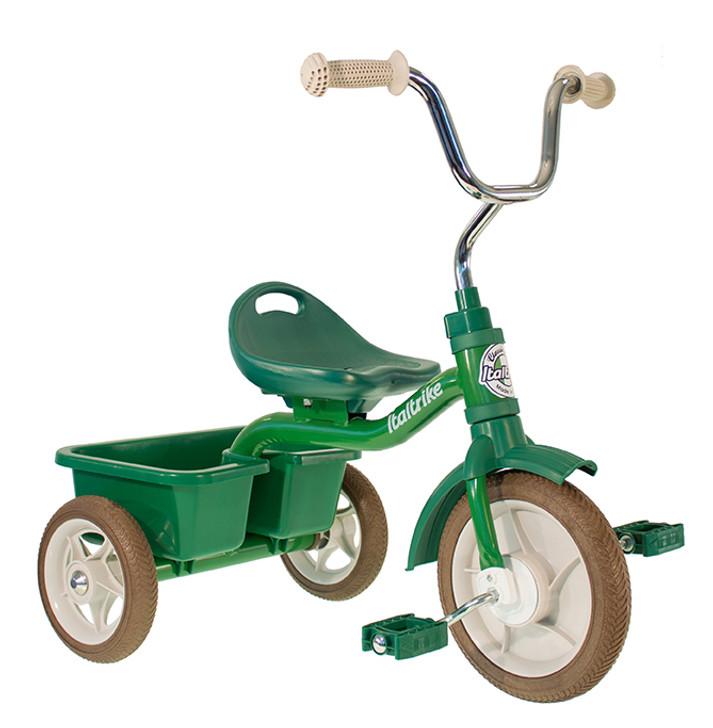 "Italtrike Tricycle 10"" - Transporter Primavera Green - LIGHTLY DAMAGED BOX"