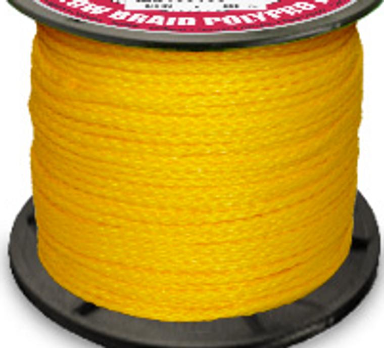 Hollow Braid Polypropylene - Yellow