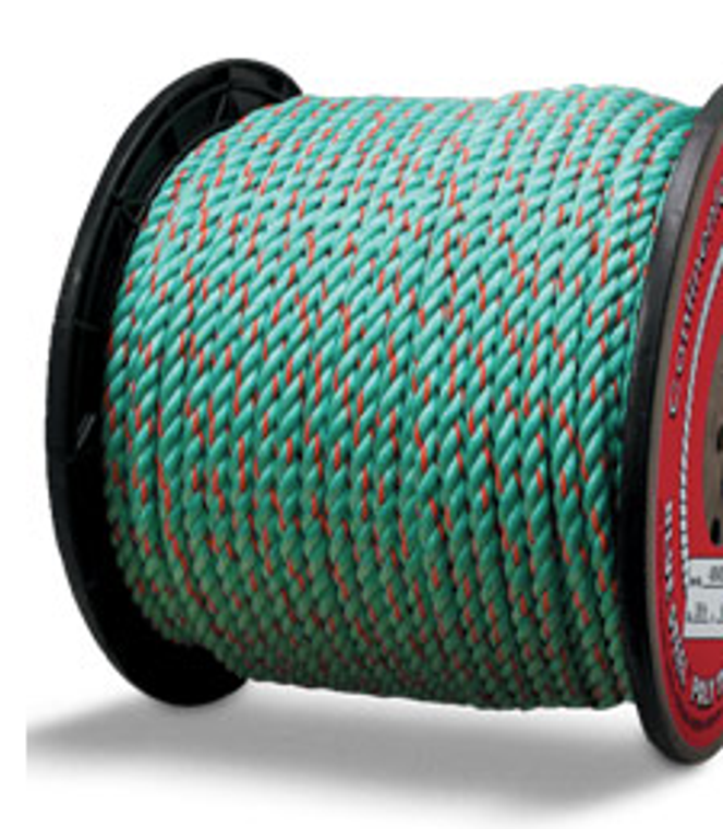 blue steel poly truck rope
